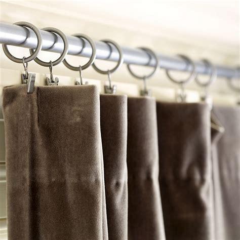 curtain clip rings set of 10 iron ballard designs