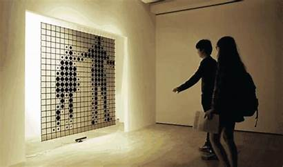 Interactive Installation Transparent Display Led Tech Kinect