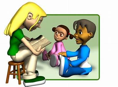 Children Teach Child Bible Reading Clipart Sunday