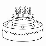 Cake Coloring Pages sketch template