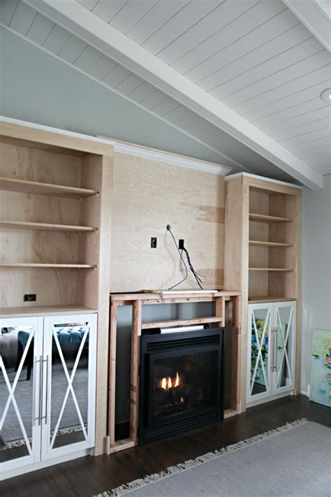 how to build a gas fireplace diy fireplace built in tutorial iheart organizing