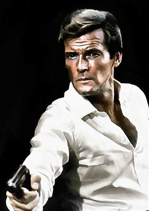 roger moore print roger moore by sergey lukashin