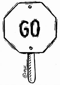 Go Sign Black And White Clipart - Clipart Suggest