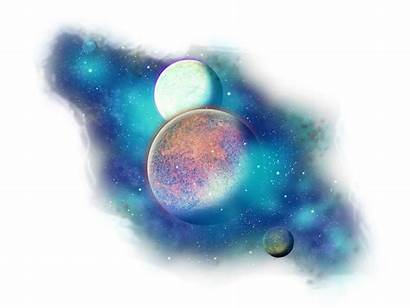 Transparent Galaxy Space Planets Clipart Universe Planet