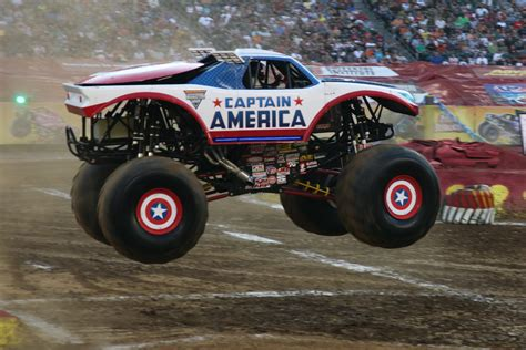 wheels monster trucks videos image wheels monster truck captain america jpg
