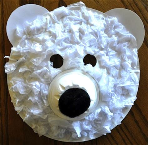 polar bear crafts for preschoolers preschool crafts for polar paper plate mask craft 976