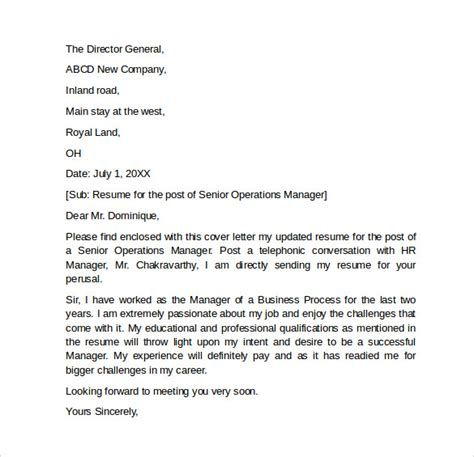 Resume Cover Letter Sles General by Resume Cover Letter 7 Free Sles Exles Formats