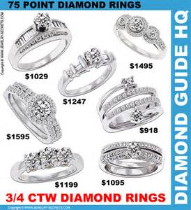 price of engagement rings what does a 3 4 carat cost jewelry secrets