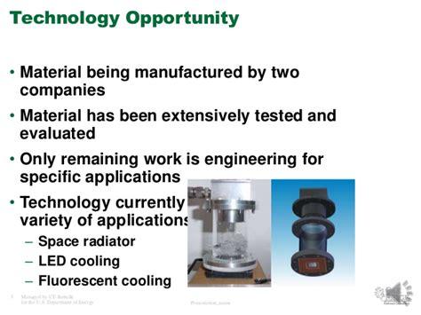 high thermal conductivity graphite foam  electronics  alex detra