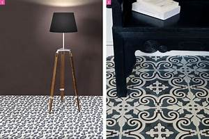Vinyl Sol Carreaux De Ciment : les carreaux de ciment inspirent la d co ~ Premium-room.com Idées de Décoration