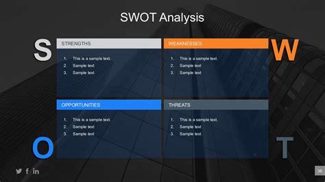 business swot assessment powerpoint table slidemodel