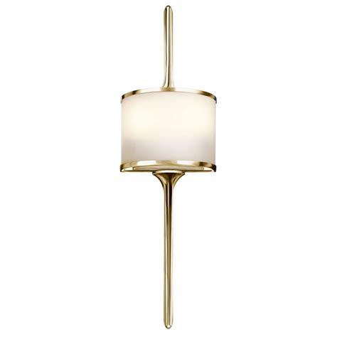 Modern Bathroom Wall Lights Uk by Modern Bathroom Wall Light In Polished Brass With Opal Glass