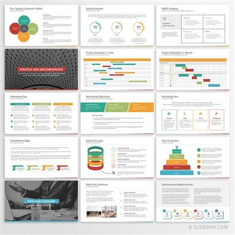 business plan template  powerpoint slideson
