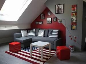 Décoration Chambre Ado Garçon : deco chambre ado rouge et gris ~ Melissatoandfro.com Idées de Décoration