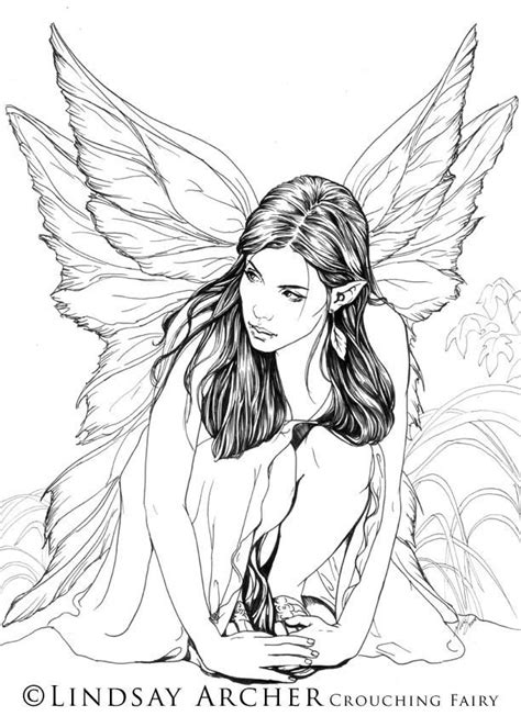 Crouching Fairy by LinzArcher on DeviantArt (With images
