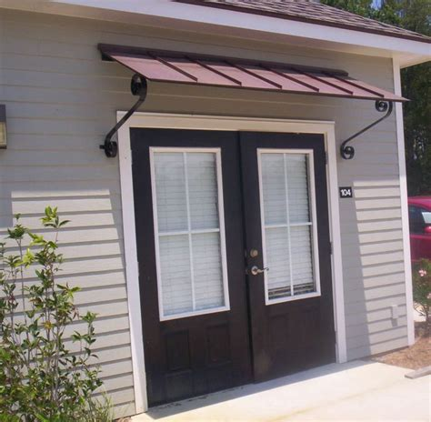 patio door awnings black and silver striped awning patio