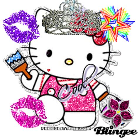 hello kitty glitter picture 112386387 blingee com