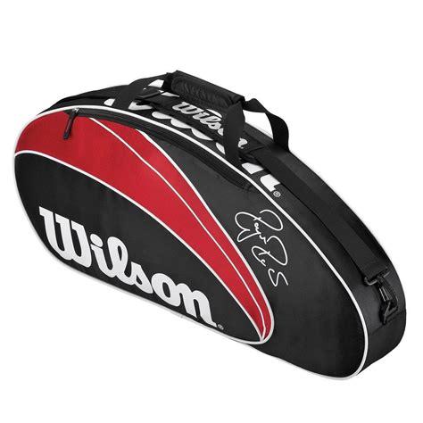 wilson federer  pack racket bag sweatbandcom
