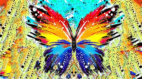 abstract paint splatter butterfly wallpapers hd
