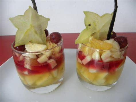 verrines de fruits exotiques au sirop de lefruitdemapassion