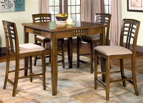 dining room sets rich walnut counter height dining room set counter
