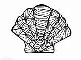Coloring Seashell Shell Sea Shells Scallop Conch Seashells Line Drawing Printable Colouring Adults Simple Getdrawings Getcolorings Clipartmag Template Colorings Approved sketch template
