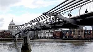 The Millennium Bridge Or Millennium Foot Bridge  London