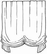 Curtain Coloring sketch template