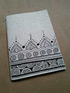 Diy Notebook In Rice Paper  Zentangle Design Uploaded By