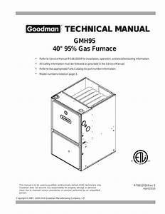 Goodman Mfg Gmh95 User Manual