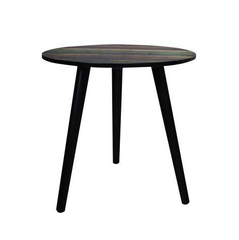 tisch rund schwarz holz beistelltisch schwarz bunt tisch couchtisch wohnzimmer rund ablage kiefer kaufen bei dtg