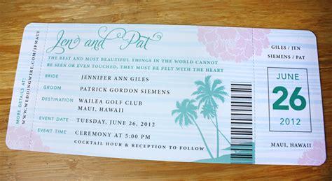 boarding pass wedding invitations turquoise blush pink gray palm tree peony boarding pass wedding invitations emdotzee designs