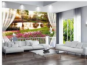 Tapete Blumen Modern : 3d angepasst tapete dekoration 3d fenster blumen zimmer moderne tapete wandbild fototapete in 3d ~ Eleganceandgraceweddings.com Haus und Dekorationen