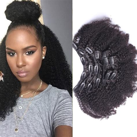 clip  curly hair extensions african american clip