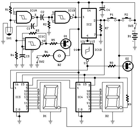 Digital Pedometer Circuit Tutorials Medical Health