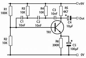 rc phase shift oscillators With transistor phase shift oscillator