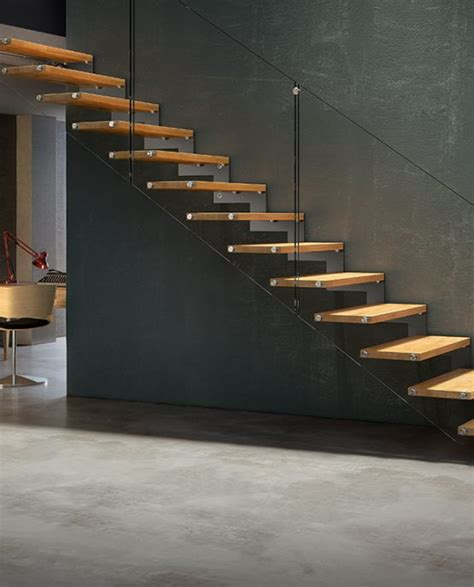 fulmine linear staircase designer stairs