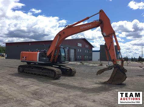 hitachi  lc excavator  team auctions