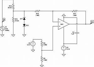 adc limiting the input current with voltage divider With circuitlab vga resistor dac