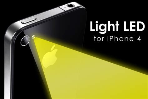 light on iphone light led for iphone 4 application