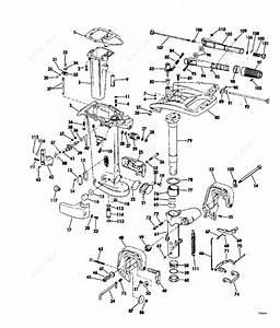 Evinrude 1977 35 - 35752c  Exhaust Housing25 Hp