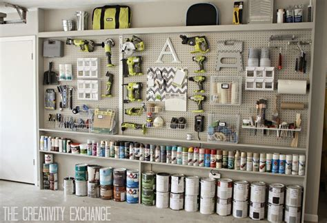 Storage Pegboard by Organizing The Garage With Diy Pegboard Storage Wall