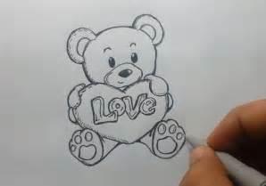 I Love You Teddy Bear Drawings