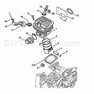 Stihl Ms 460 Chainsaw  Ms460 R  Parts Diagram  Cylinder