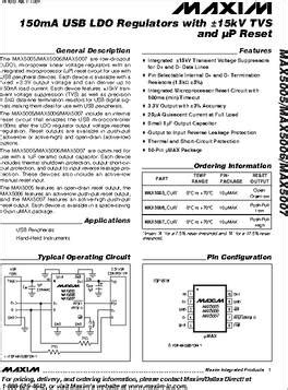 MAX5007ACUB+T datasheet - Specifications: Package / Case