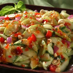 Sweet Cucumber Salad Recipe