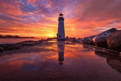 Lighthouse Sunrise Background Wallpapers Sky 1920 Wall