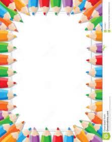 Color Pencil Border Clip Art