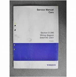 Volvo S40 V40 Wiring Diagram Manual 2001 Tp3949031 On Ebid
