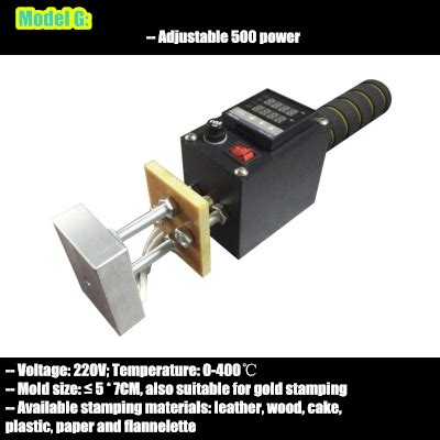 hand leather embossing machine manual heat stamping tool